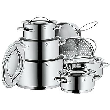 Baterias Cocina Wmf | Wmf 711126040 Gala Plus Bateria De Cocina 7 Piezas Amazon Es