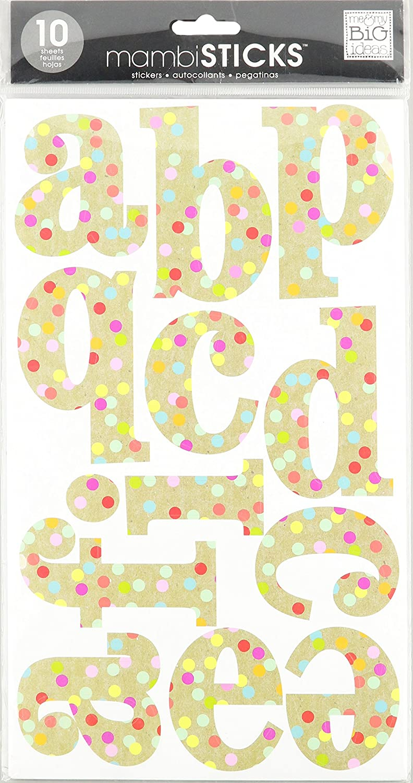Me and My BIG Ideas STL-57 10-Sheet Confetti Kraft Alphabet Stickers Large