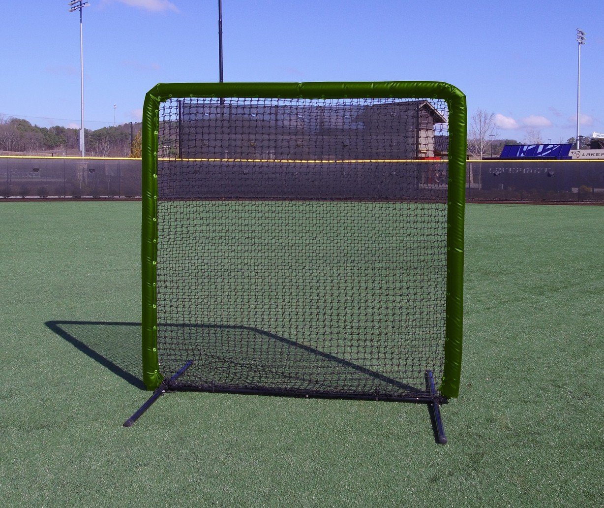 Armor Series 7X7 Protective Screen with Screen Bulletz. Baseball/Softball Padded Practice Screen Net with Vinyl Padding. Choose Color! (Green) by Armor