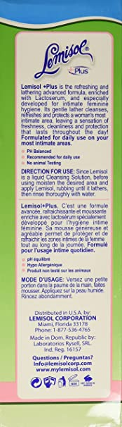 Amazon.com: Lemisol Plus Gentle Daily Cleanser, Original Refreshing Formula, 16 Ounce: Health & Personal Care