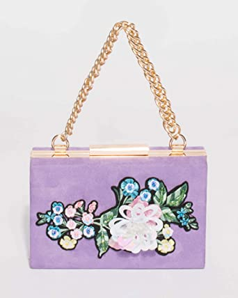 2e4b914a869b Colette Hayman - Selena Suedette Purple Patch Chain Clutch  Amazon ...