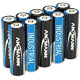 ANSMANN 1502-0005 3000 mAh 1.5 V AA Mignon FR6 L91 LR06 Lithium Industrial High Energy Battery - Black