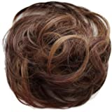 PRETTYSHOP Hairpiece Scrunchie Bun Up Do | Ponytail Extensions | Wavy Curly or Messy (Auburn Brown Blonde Mix #32H26…