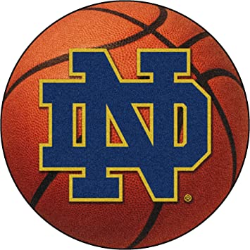 FANMATS NCAA Notre Dame Fighting Irish Nylon Face Soccer Ball Rug