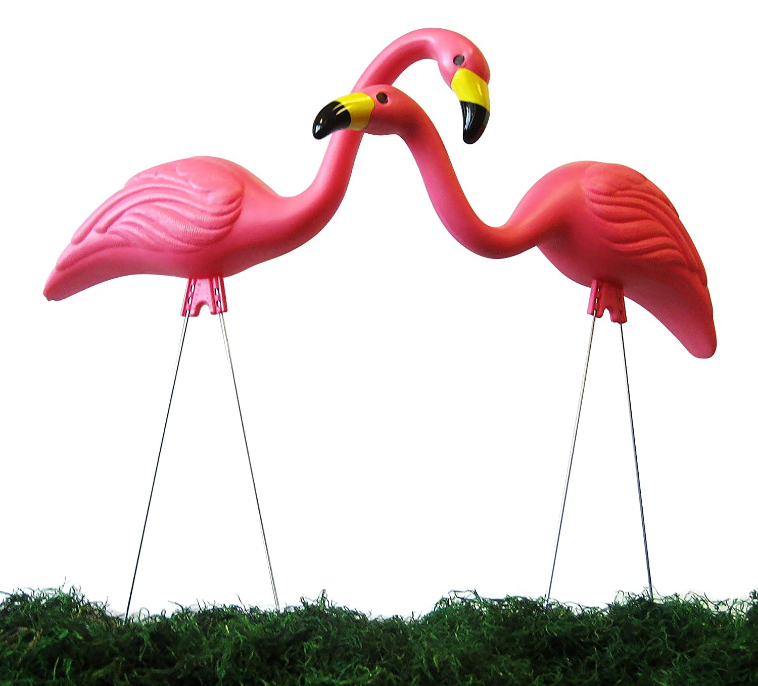 Flamingo garden ornament - Amazon Com Garden Plast Pink Flamingos 2 Pack Outdoor Statues Patio Lawn Garden