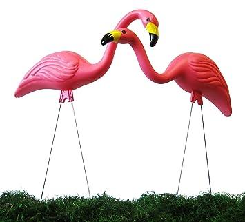 garden flamingos. Garden Plast Pink Flamingos , 2-Pack (Discontinued By Manufacturer)