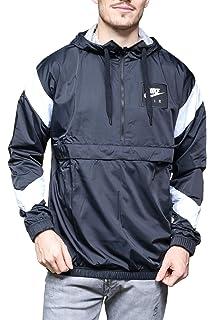 c7fa8f80d9de Nike Men s AV15 Full Zip Hoodie Hooded Top Jacket Navy   Blue 875056 ...