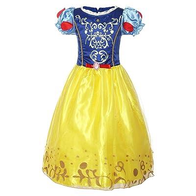 ReliBeauty – fille – robe de cosplay Princesse Blanche-Neige Tenue à  manches bouffante Déguisement 46bf35baec22