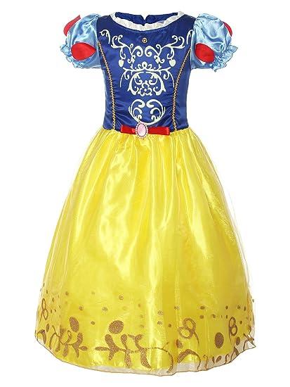 ReliBeauty – Fille – Robe de Cosplay Princesse Blanche-Neige Tenue à  Manches Bouffante Déguisement cbec6f17055e