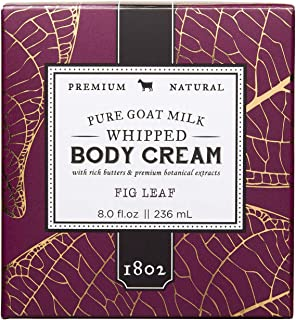 product image for Beekman 1802 - Whipped Body Cream - Fig Leaf - Goat Milk Body Butter, Daily Hydration for Dry Skin - Naturally Exfoliating Body Cream - Good for Sensitive Skin - Goat Milk Bodycare - 8 oz