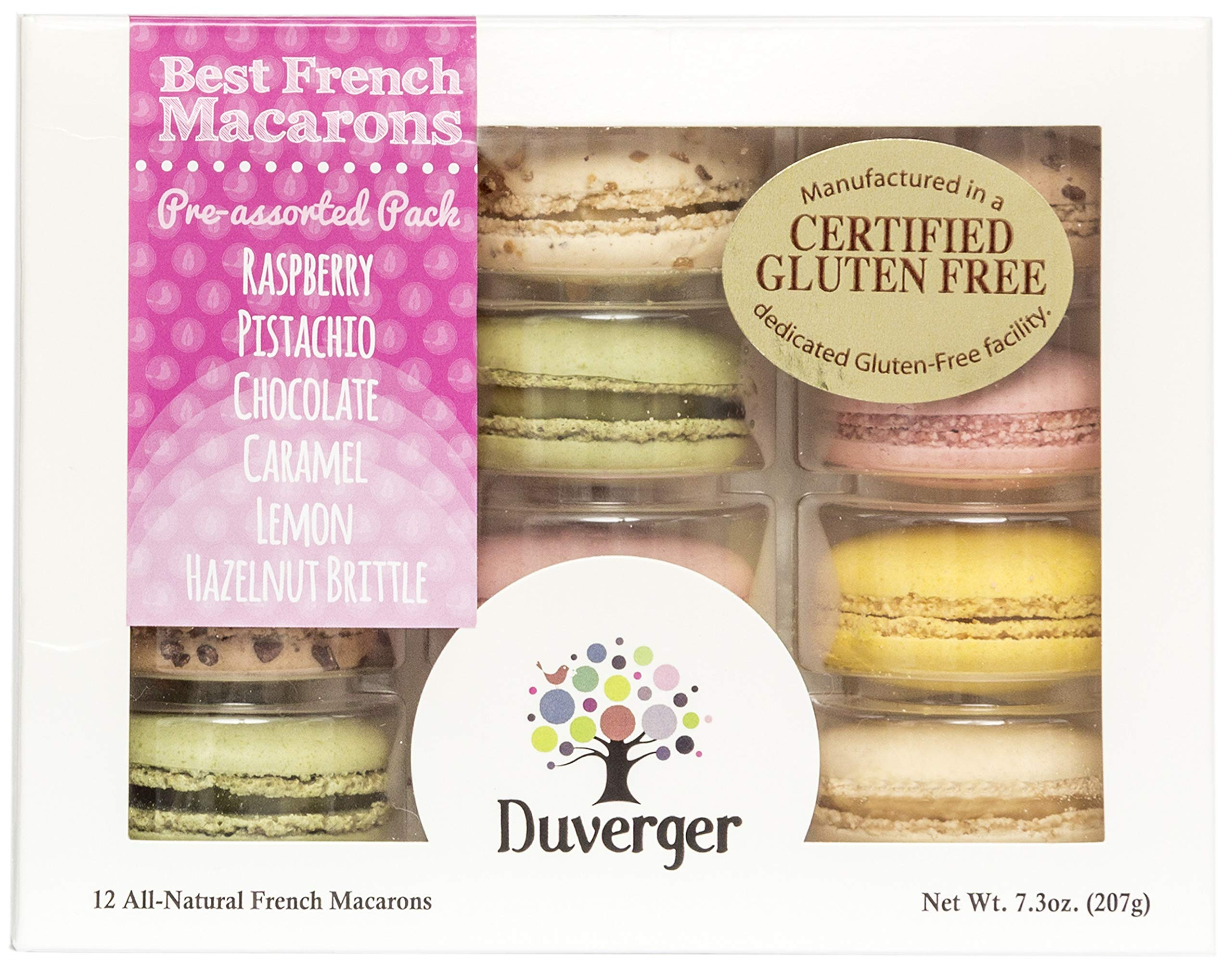 Duverger French Macarons Degustation Pack - Gluten Free Certified (12 count)