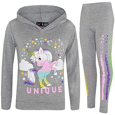 A2Z 4 Kids® - Chándal con Capucha para niñas, diseño de Unicornio ...
