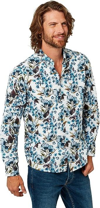 Joe Browns - Camisa de Flores para Hombre (S) (Blanco ...