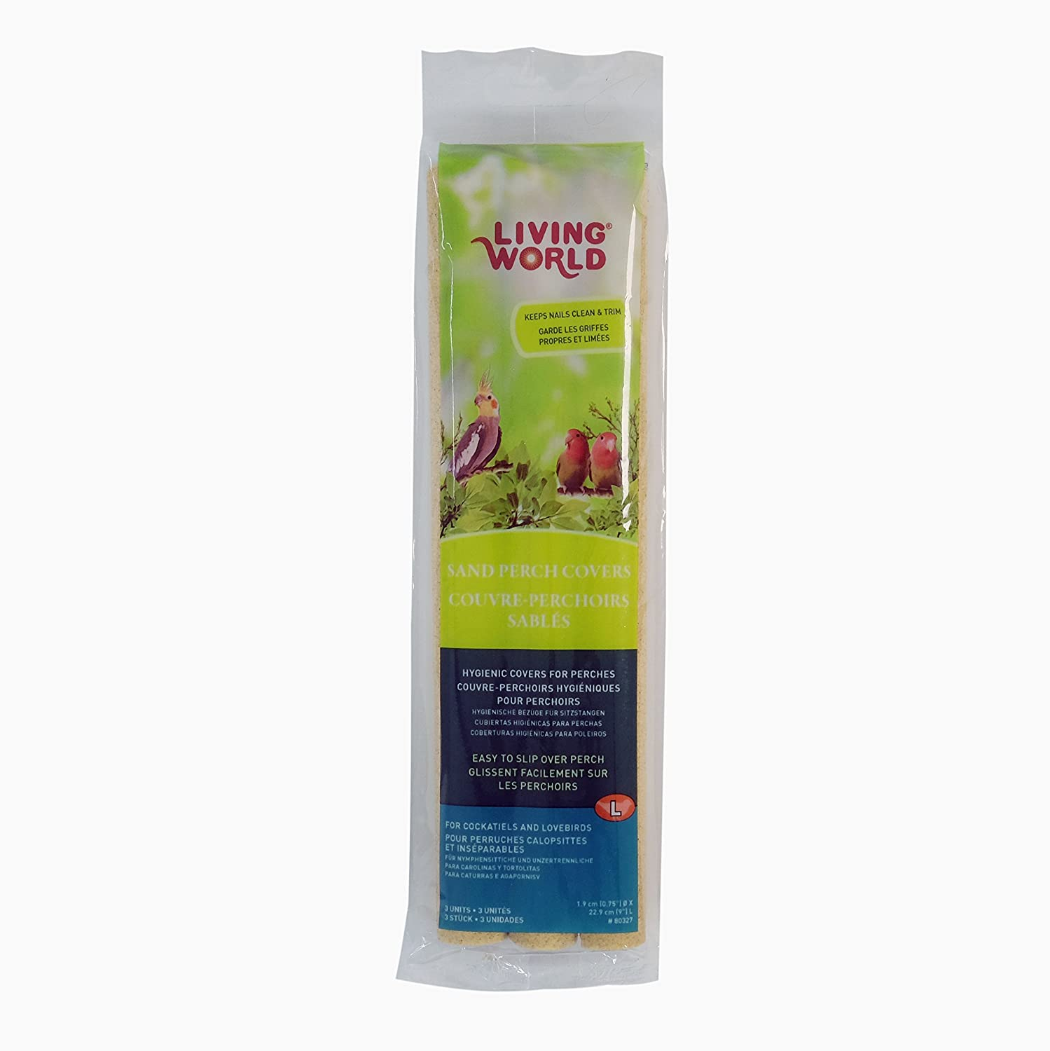 Living World Sand Perch Covers for Cockatiels 3 Pack