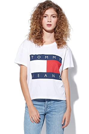 tommy jeans hilfiger denim damen t shirt tjw basic cn knit. Black Bedroom Furniture Sets. Home Design Ideas