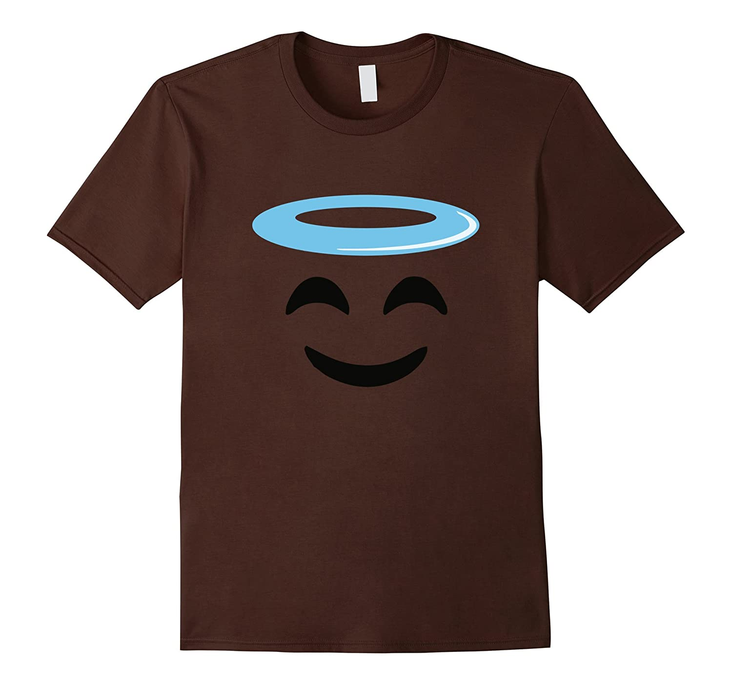 Angel Smile Face Funny Emoji tee shirt group costume-T-Shirt