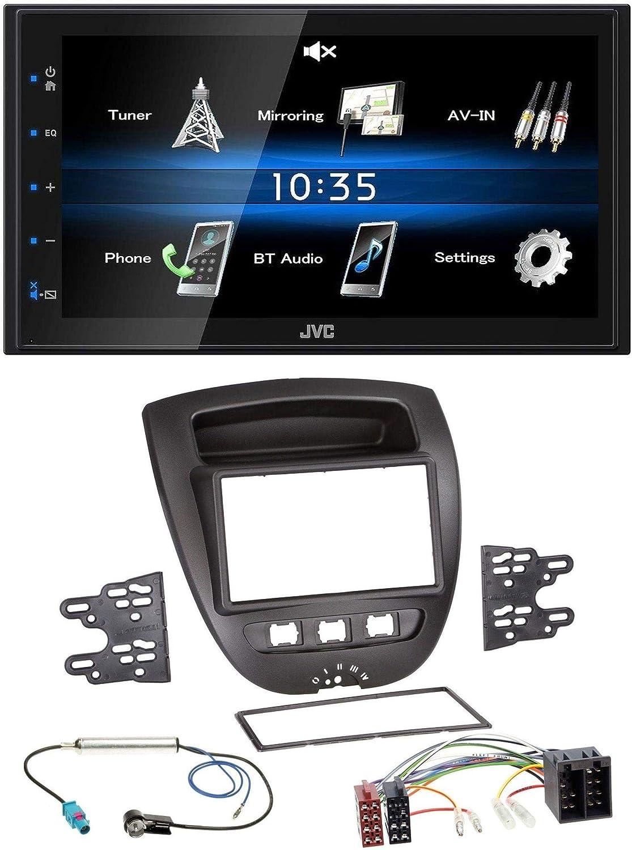 Caraudio24 Jvc Kw M25bt Usb 2din Bluetooth Mp3 Aux Car Elektronik
