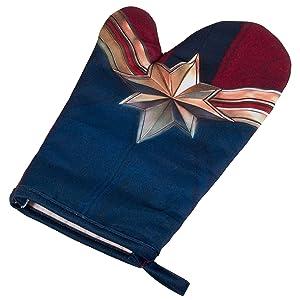 Seven20 Captain Marvel Oven Mitt - Heat Resistant - Right Hand - 100% Polyester