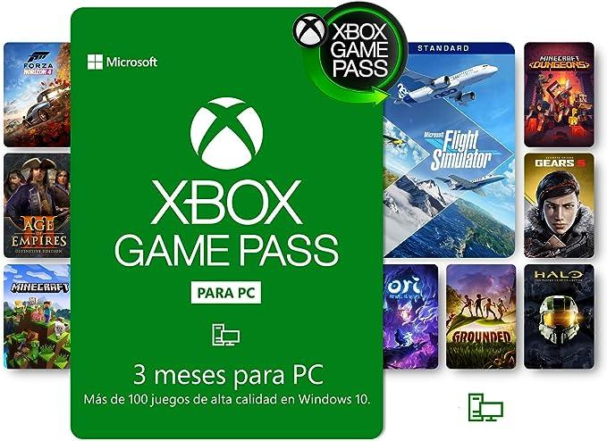 Suscripción Xbox Game Pass para PC - 3 Meses | Windows 10 PC - Código de descarga: Amazon.es: Videojuegos