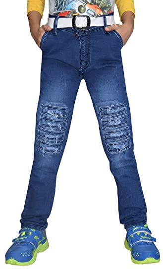 8d21e795416 Tara Lifestyle Boys Denim Jeans Blue Damage (7-8 Years)  Amazon.in ...