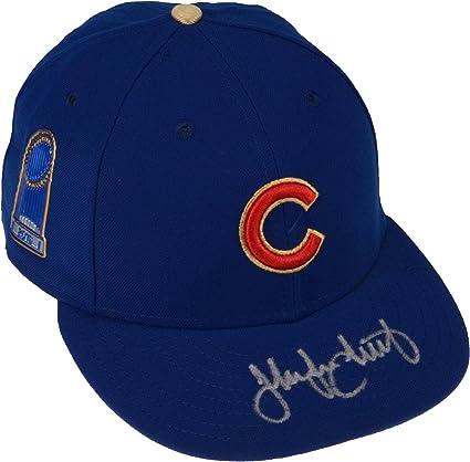 bd38093d203 Jake Arrieta Chicago Cubs Autographed New Era 2017 Gold Program World  Series Champions Commemorative Hat -