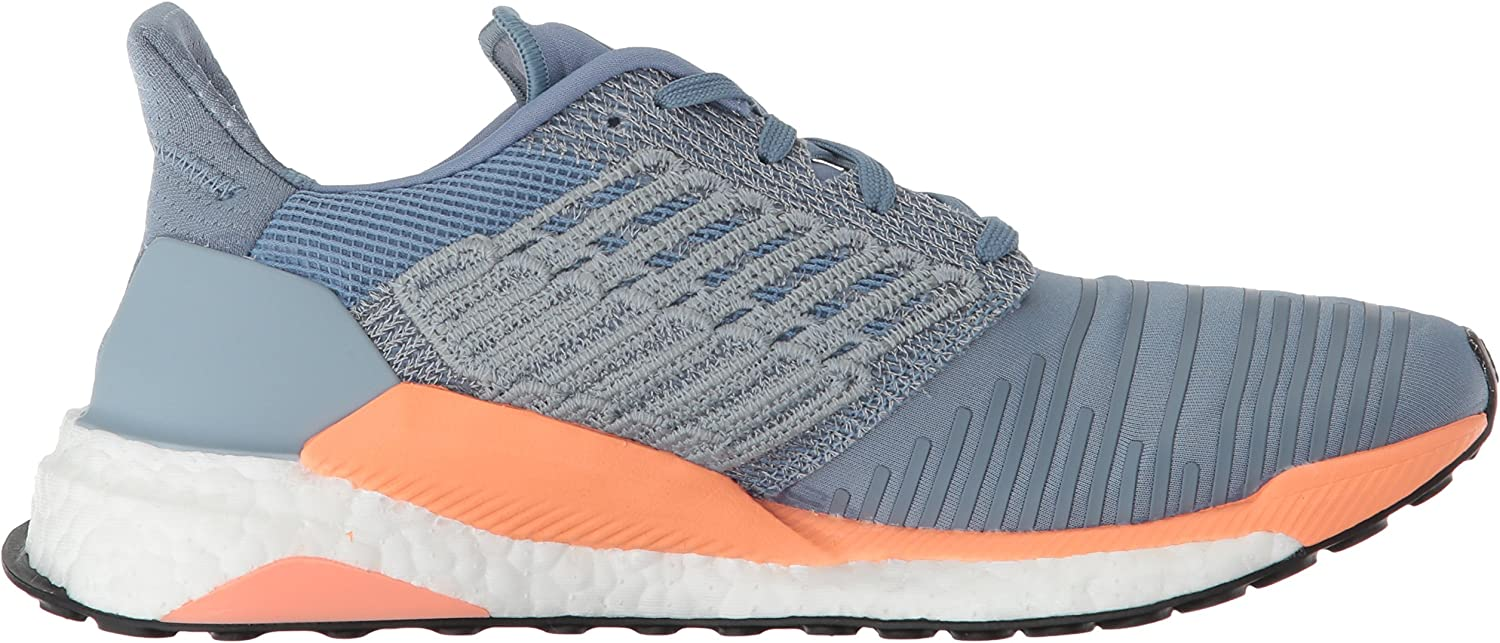 adidas Originals Women's Solar Boost Running Shoe Raw Grey/White/Chalk Coral