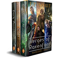 Heroes of Ravenford Books 1 - 3: Ruins on Stone Hill, Serpent Cult, Dark Monolith (English Edition)