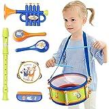iPlay, iLearn Toddler Musical Instruments Toys, Kids Drum Set, Baby Trumpet, Percussion, Harmonica, Maraca, Flute, Tambourine