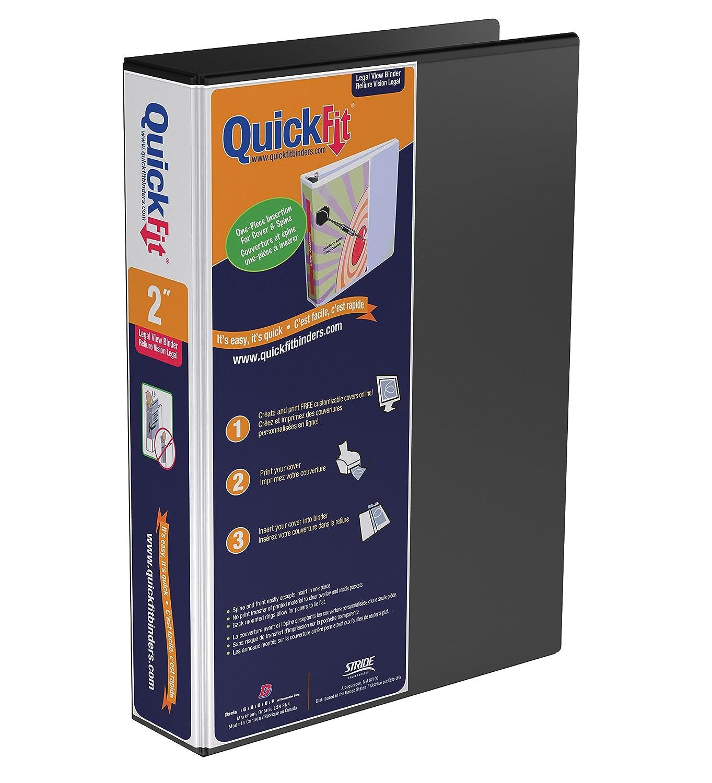 QuickFit Deluxe 2-Inch Legal View Binder, 14 x 8.5 Portrait, D-Ring, Black (95031P) Davis Group
