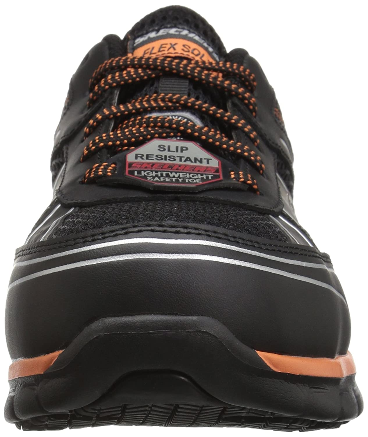 Skechers Work Men's Synergy Fosston Wide Work schuhe, schuhe, schuhe, schwarz Orange, 12 W US 01577e