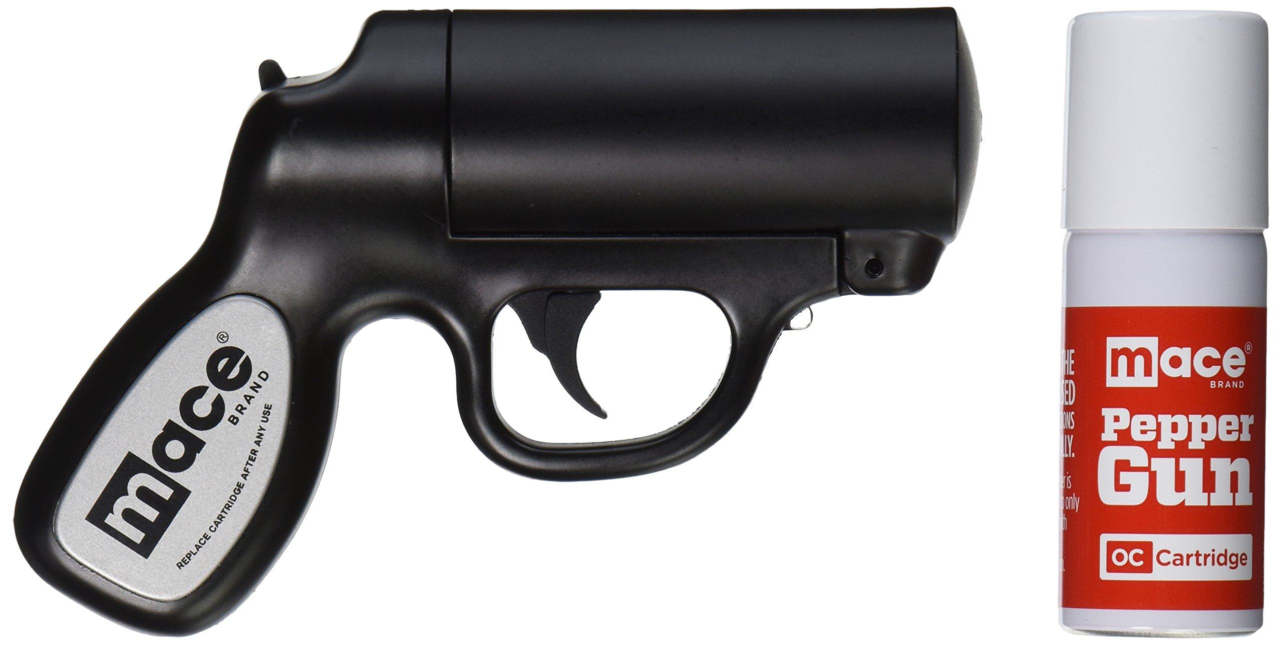 Mace Pepper Gun - Mat Blk W/Strobe Led by Mace