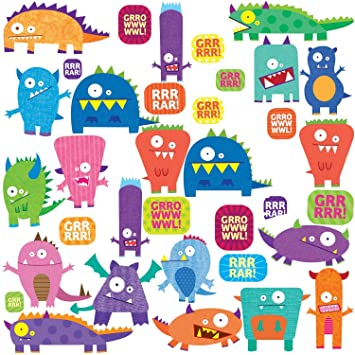 RoomMates RMK1472SCS Monsters Peel U0026 Stick Wall Decals