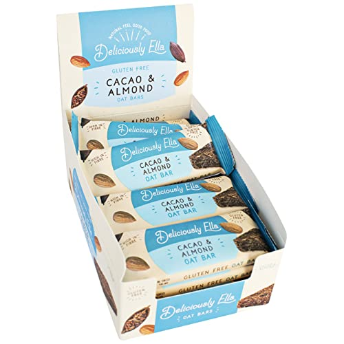 Deliciously Ella Cacoa and Almond Oat Bar, 50 g, Pack of 16