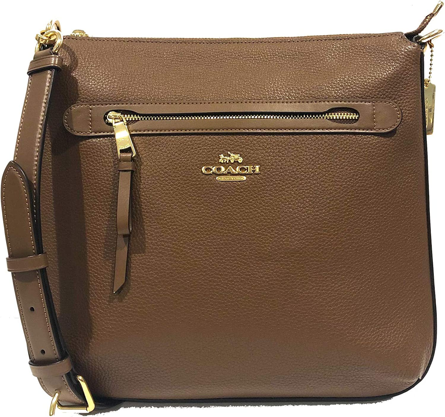Coach Crossbody Zip Logo Saddle 34823