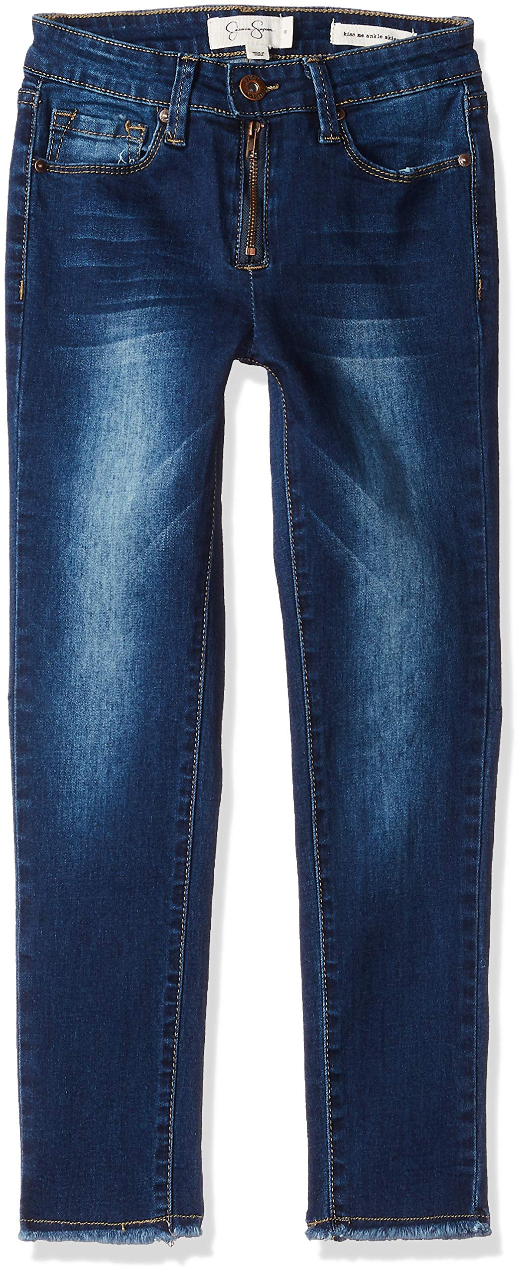 Jessica Simpson Big Girls' Skinny Jean Embroidery, Blue Wash, 14