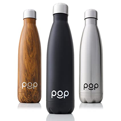 amazon com pop design stainless steel vacuum insulated water bottle