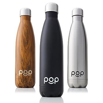 Amazon.com: Botella de agua por diseño | mantiene el frío ...