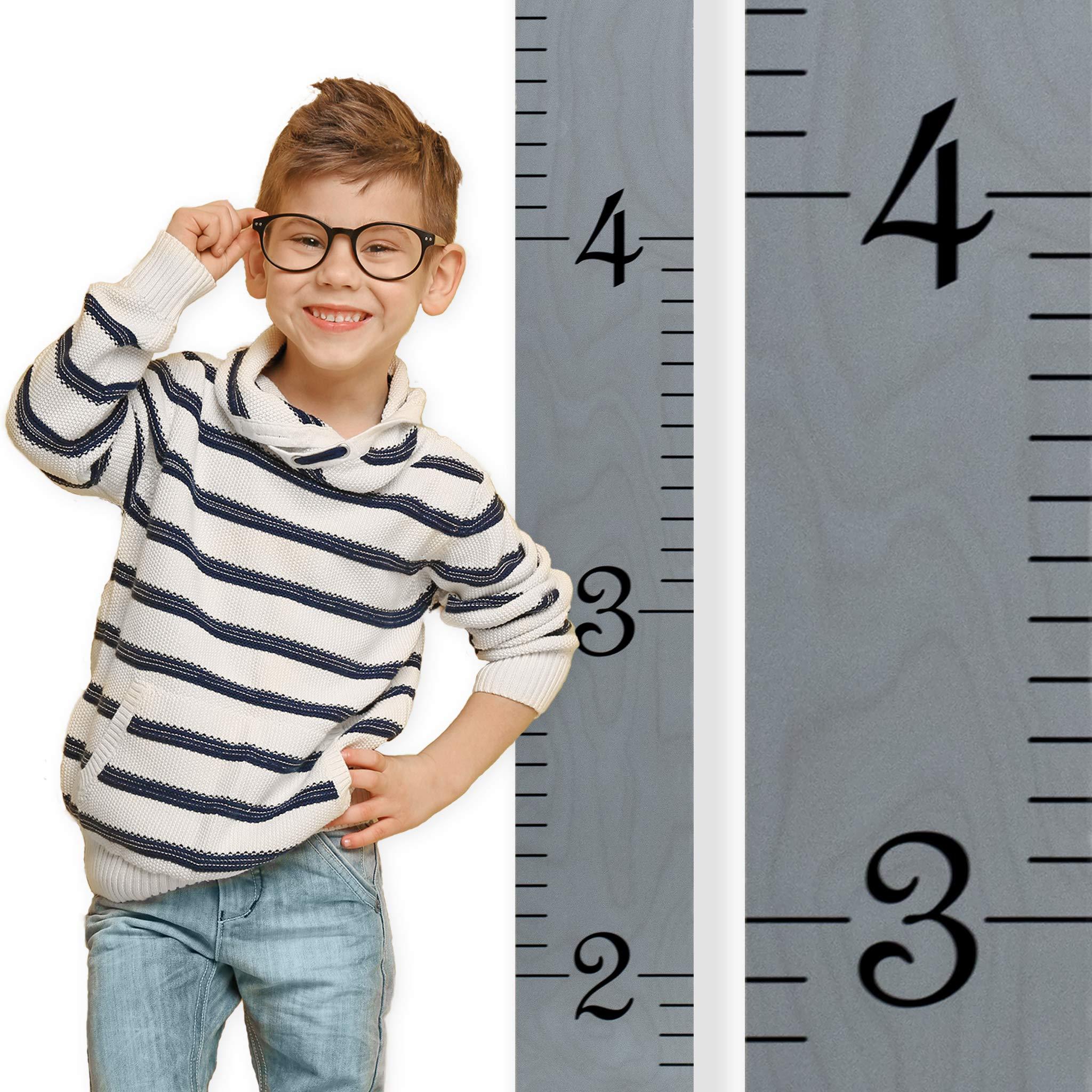 Growth Chart Art Wooden Growth Chart Ruler For Kids Boys Girls