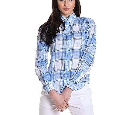 Ralph Lauren Femme 697464 Bleu Claire Lin Chemise  Amazon.fr ... 76394cd27a8