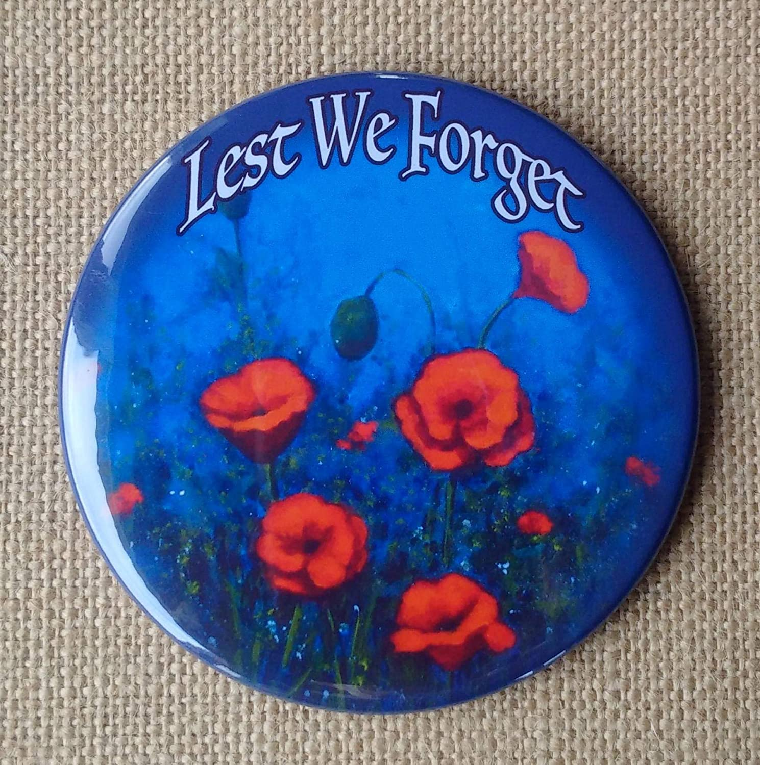 Remembrance Day Fridge Magnet 3.5', POPPIES, From Original Art, Lest We Forget, Veterans