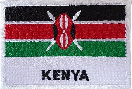 Parche de la bandera de Kenia para coser o planchar en la ropa de ...
