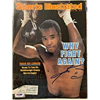 $109 » Sugar Ray Leonard Signed Sports Illustrated Magazine 9/8/86 Auto COA - PSA/DNA Certified - Autographed Boxing Magazines