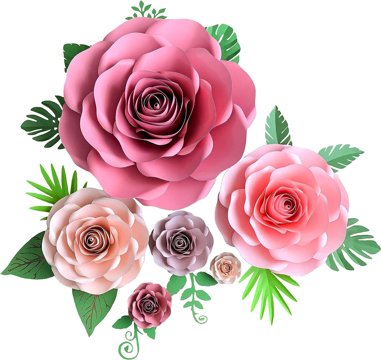 Medium  to large paper flowers