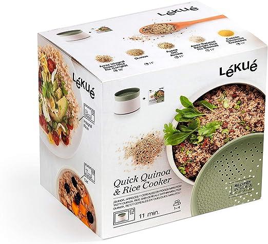 Lékué Recipiente para cocinar Quinoa, Arroces y Cereales, 1 Litro ...