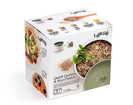 Lékué Recipiente para cocinar Quinoa, Arroces y Cereales, 1 Litro