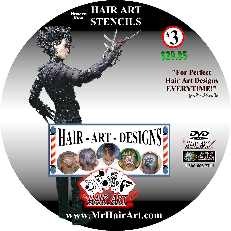 Amazon Mr Hair Art 50 Stencil Kit Beauty