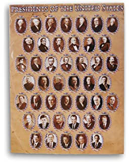Educational Clroom Learning Chart United States Presidents Poster 22 X17 Inches Not Folded