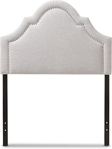 Baxton Studio Remi Modern and Contemporary Greyish Beige Fabric Upholstered Headboard