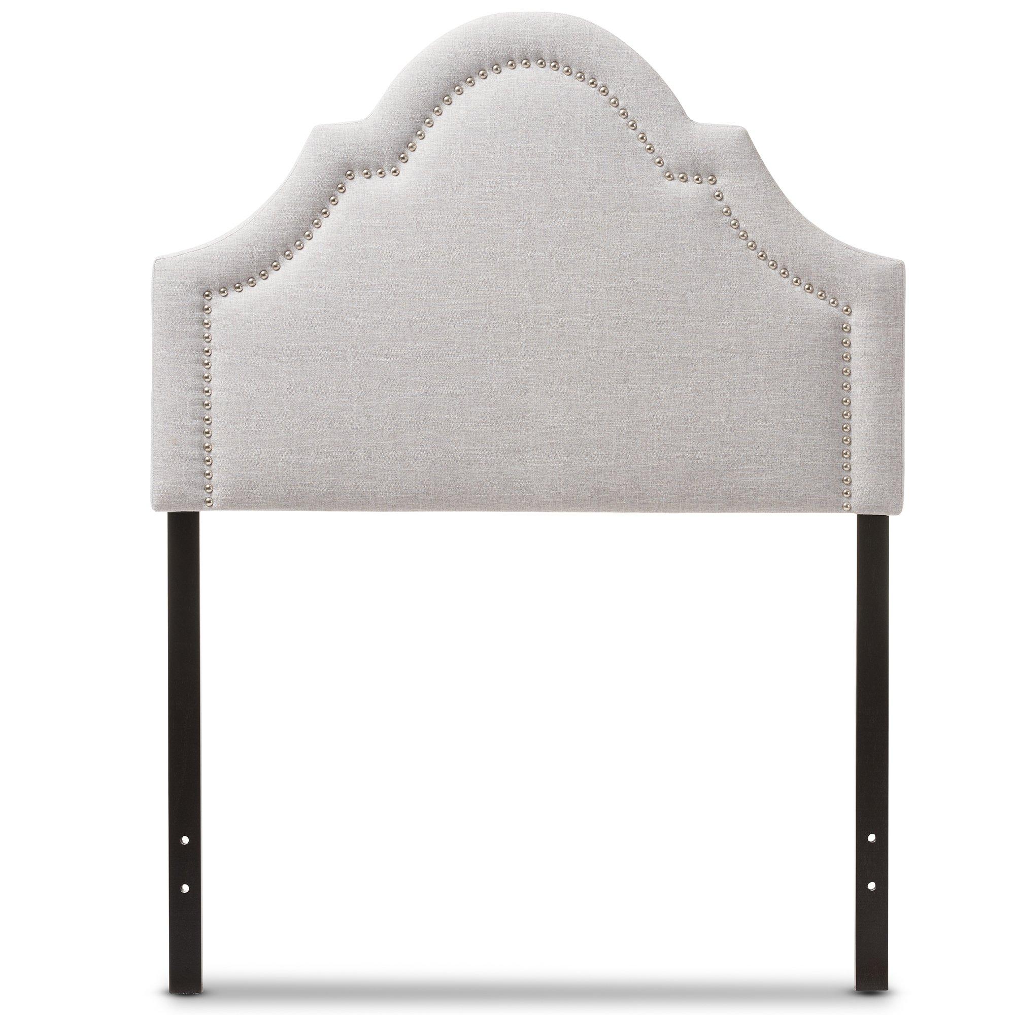 Baxton Studio Remi Modern and Contemporary Greyish Beige Fabric Upholstered Headboard, Twin