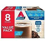 Atkins Gluten Free Protein-Rich Shake, Dark Chocolate Royale, Keto Friendly, 8 Count